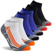 LANDUNCIAGA Men's Ankle Cycling Socks Unisex Compression Running Athletic Socks 10-15 mmHg,1/3/6 Pairs