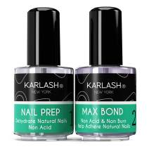 Karlash Professional Natural Nail Prep Dehydrate & Bond Primer, Nail Protein Bond, Superior Bonding Primer for Acrylic Powder and Gel Nail Polish 0.5 oz