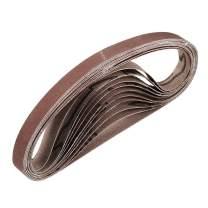 "uxcell 3/8"" x 13"" 600 Grit Sanding Belt Aluminum Oxide Sandpaper Belts for Portable Strip Sander Wood Finishing Metal Drywall Polishing Sharpening Abrasive Paper 10pcs"