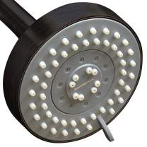 ShowerMaxx, Choice Series, 5 Spray Settings 4 inch Adjustable High Pressure Shower Head, MAXX-imize Your Shower with Showerhead in Oil Rubbed Bronze Finish