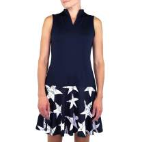 Jofit Women's Firecracker Collection Athletic Drop Waist Golf Dress with Undershorts for Gold and Tennis, Midnight Blue