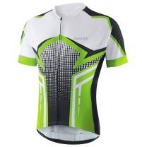 BALEAF Men's Cycling Jersey Short Sleeve Mountain Bike Shirts Full Zipper with 4 Pockets MTB Breathable UPF 50+