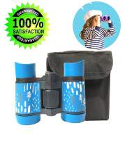 Binoculars for Kids Gift, Compact Design 4x30 Perfect for Bird Watching, Hunting, Stargazing and Outdoor Play, Educational Learning Toys for Children, Best Gift & Toys for Boys and Girls (Blue)