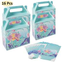 Mermaid Birthday Party Supplies Favors Decorations, (16Pcs) Mermaid Gift Bags, for Under The Sea Theme Party Decor Favors For Girl's Birthday Party and Baby Shower Party