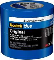 ScotchBlue Original Multi-Surface Painter's Tape, 1.88 inch x 60 Yard, 2 Rolls