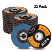 "Mestool 22 Pack Flap Disc, 4.5"" x 7/8"", Type 29 Zirconia Abrasive Grinding Wheel and Flap Sanding Disc (40 Grit)"