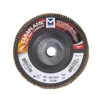 "Mercer Industries 269H080 Ceraflame Ceramic Flap Discs, Type 27, 4-1/2"" x 5/8""-11, Grit 80, (10 Pack)"