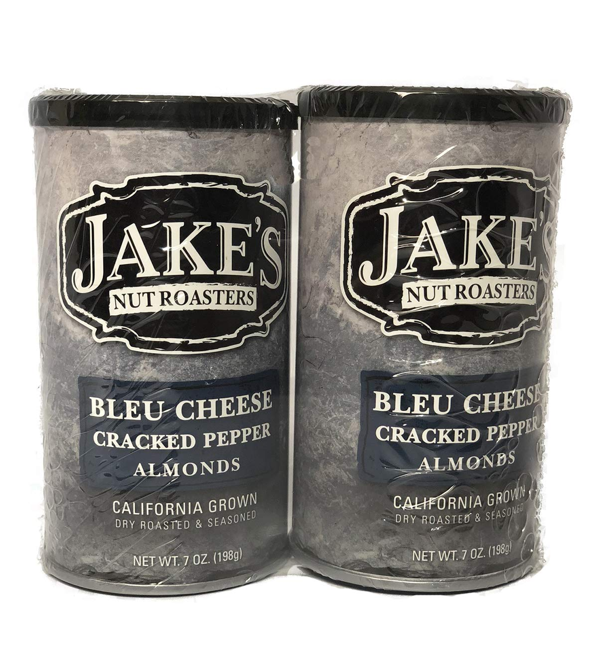 Jake's Nut Roasters Bleu Cheese Cracked Pepper Almonds (2 Pack) Whole Dry Roasted Seasoned Almonds - High-Protein Snack with a Bleu Cheese & Black Pepper Flavor