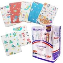TEN@NIGHT Adult Baby Brief Diapers ABDL Printed Rainbow Week Diaper DDLG 7 Pieces