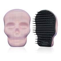 Tangle Angel Detangling Brush for Thick Thin Curly,Wet or Dry Hair, Skull Design Hair Massage Brush,Anti Static Detangler Brush for Women & Men(110mm,Pink)