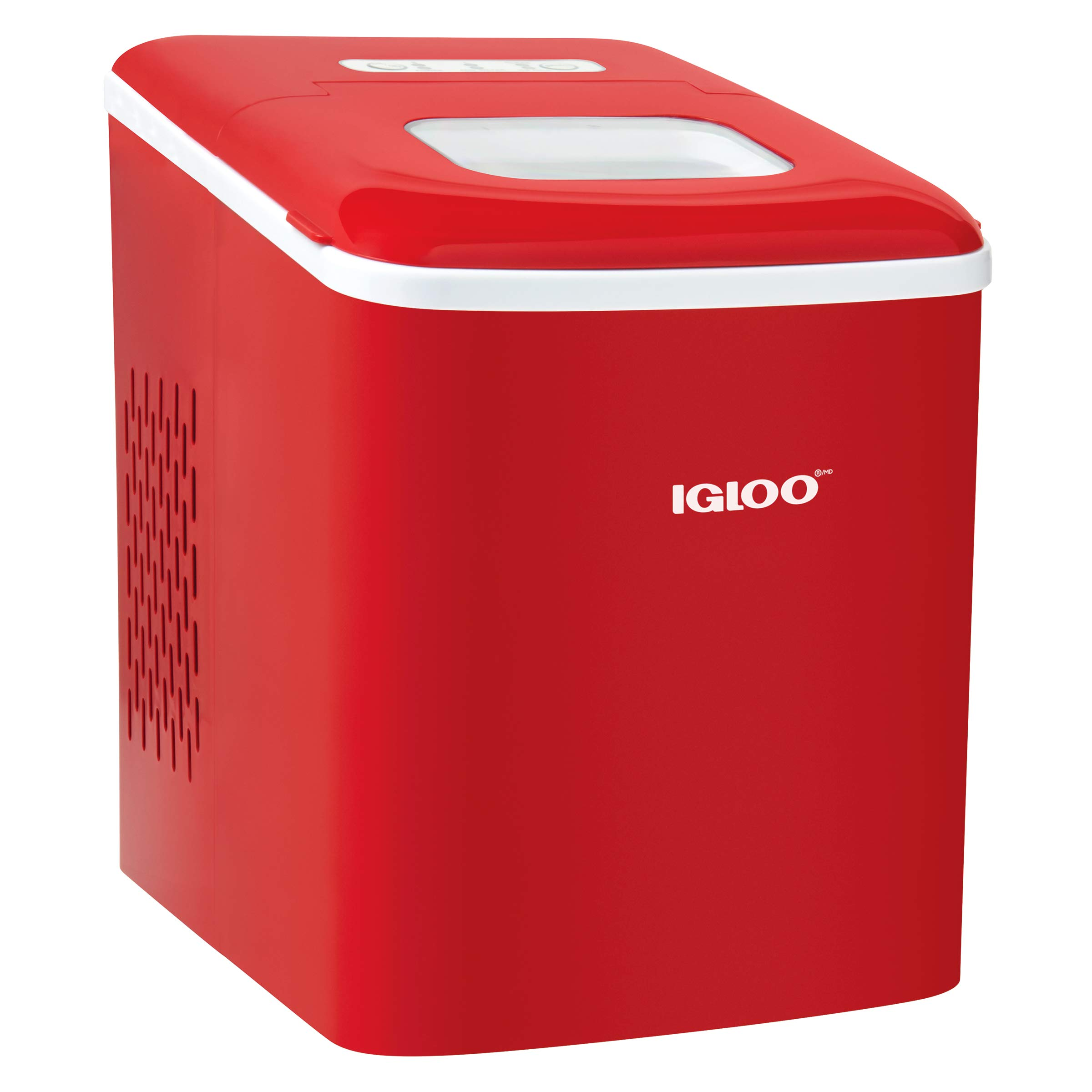 Igloo Icebnh26rd Automatic Self Cleaning Portable Electric Countertop Ice Maker Machine 26 Pounds In 24 Hours 9 Cubes Ready In 7 Minutes With Scoop And Basket
