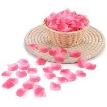 2000 PCS Silk Rose Petals Artificial Flower Wedding Party Flower Decoration for Romantic Night Valentine Day (Rose Pink, 2000 pcs)
