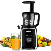 ROVKA Masticating Juicer with Quiet Motor, Slow Juice Extractor for Higher Nutrient and Vitamins, Easy to Clean Cold Press Juicer for Fruits and Vegetable