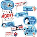 Funny Pawty Like a Puppy - Dog Baby Shower or Birthday Party Photo Booth Props Kit - 10 Piece