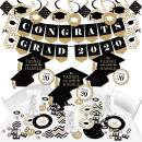 Big Dot of Happiness Gold - Tassel Worth the Hassle Grad - 2020 Black Graduation Party Supplies - Banner Decoration Kit - Fundle Bundle
