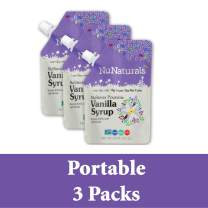 NuNaturals Flavored Sugar-Free Pourable Syrup, 3 Pack, Vanilla Syrup