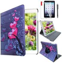 Ipad Case for Apple ipad Mini 1st, 2nd, 3rd Generation Model A1432, A1454, A1455, A1489, A1490, A1491, A1599, A1600 or A1601 Heart Flower