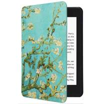 CoBak Kindle Paperwhite Case - All New PU Leather Smart Cover with Auto Sleep Wake Feature for Kindle Paperwhite 10th Generation 2018 Released, Blossom