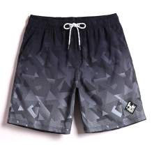 COODYAKE Mens Printed Swim Trunks with Mesh Lining Quick Dry Bathing Suits