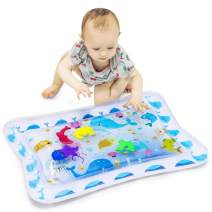 Tinabless Tummy Time Water Play Mat, Premium Inflatable Water Mat for Newborn Infants & Toddlers, Perfect Play Activity Center for Baby's Stimulation Growth