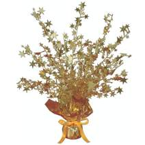 Beistle 50806-GD Star Gleam N Burst Centerpiece, 15-Inch (2-Pack)