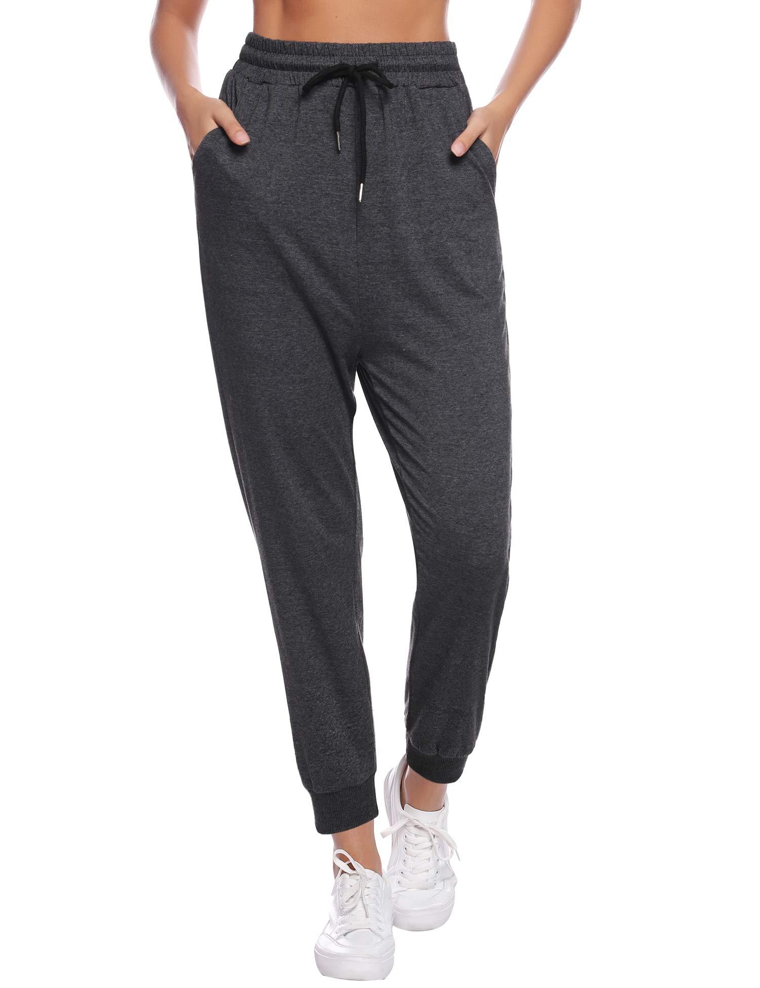 Aibrou Womens Cotton Pajama Pants for Women Active Yoga Sweatpants Soft Sleep Pants for Lounge Pants Yoga Workout Bottoms