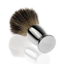 Shaving Cream Brush for Men, Travel Shave Brush with Aluminum Handle for Shaving Safety Razor, Shaving Stand, Cream