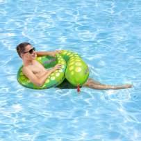 Poolmaster Snake Swimming Pool Float Split Ring Tube, Multi
