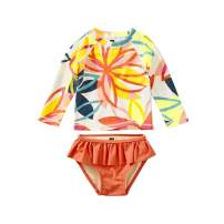 Tea Collection Rash Guard Swimwear Set, Girls, Tradewinds Floral