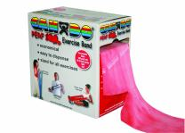 CanDo Perf 100 Low Powder Exercise Band, 100 yard with perforations, Red: Light