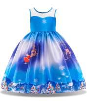 Camlinbo 2020 Froal Dress for Girls Sleeveless Bowknot Princess Dresses Toddler Girls Birthday Party Dress