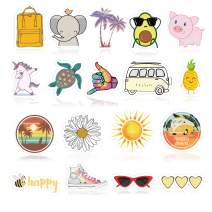 Cute VSCO Stickers for Water Bottles 18 Pack. Cool,Waterproof,Aesthetic,Trendy. Unique Durable Decal Vinyl Stickers for Teens,Girls Perfect for Hydro Flask,Waterbottle,Laptop,Phone,Travel.