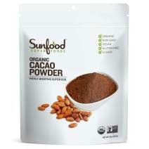 Sunfood Superfoods Cacao Powder- Pure Raw Organic. 8 oz Bag