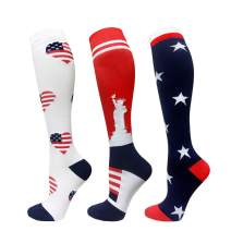 Compression Socks For Men & Women - 3/6 Pairs - Best Sports Socks for Running,Climbing,Sports,Flight Travel- 20-25mmHg