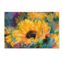 Blue Sunflowers by Richard Wallich, 12x19-Inch Canvas Wall Art