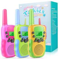 Walkie Talkies for Kids, 22 Channels 2 Way Radio Kids Gifts Toy 3 Mile Long Range with Backlit LCD Flashlight Best Gifts Top Toys for 3 4 5 6 7 8 Year Old Boys and Girls, Best Gifts & Camping