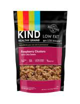 KIND Healthy Grains Clusters, Raspberry with Chia Seeds Granola, Gluten Free, 11 Ounce Bags, 1 Count