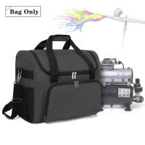 Teamoy Airbrushing Paint System Bag, Carrying Bag Organizer for Airbrush Paint Set, Airbrush Cleaning Kit and Airbrush Compressor Supplies, Black