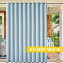 """cololeaf Outdoor Curtain Water Repellent for Patio - Home Decorations Thermal Insulated Grommet Top Indoor Outdoor Curtain/Drape for Porch,Gazebo - Sky Blue 120"""" Wx96 L Inch (1 Panel)"""