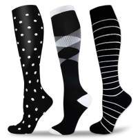Compression Socks Women & Men Circulation 20-30mmhg - Best for Running, Nursing, Hiking, Recovery&Flight Knee High Socks