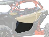 SuperATV Heavy Duty Aluminum Lower Door Insert Panels for Can-Am Maverick X3 (2016+) - Easy Installation and a Rattle-Free Fit! - Black