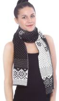 Simplicity Women's Winter Multi-Color Patterned Reversible Knit Scarf