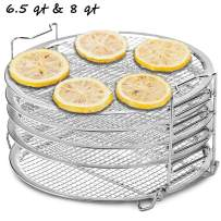 Dichmag 1 Stand for Ninja Foodi Pressure Cooker and Air Fryer, Food Grade Stainless Steel Dehydrator Rack, 1 Pack/Set, 6.5 8 qt, Silver