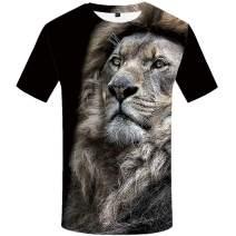 KYKU Lion Tshirt Men Size S-XXL 3D T Shirt Animal T-Shirts for Mens Clothing