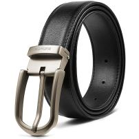 BOSTANTEN Genuine Leather Belts for Men Adjustable Dress Click Belt With Single Prong Buckle
