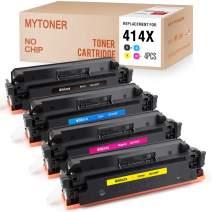 MYTONER (No Chip) Compatible Toner Cartridge Replacement for HP 414X W2020X W2021X W2022X W2023X for Color Laserjet M454dw M454dn MFP M479fdw M479fdn Printer (Black Cyan Magenta Yellow,4-Pack)