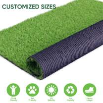 Realistic Artificial Grass Turf Lawn- 5FTX10FT(50 Square FT),1.38inch Height Indoor Outdoor Rug Garden Lawn Landscape Synthetic Grass Mat