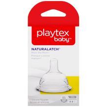 Playtex NaturaLatchNipple, Medium Flow, 2-Count
