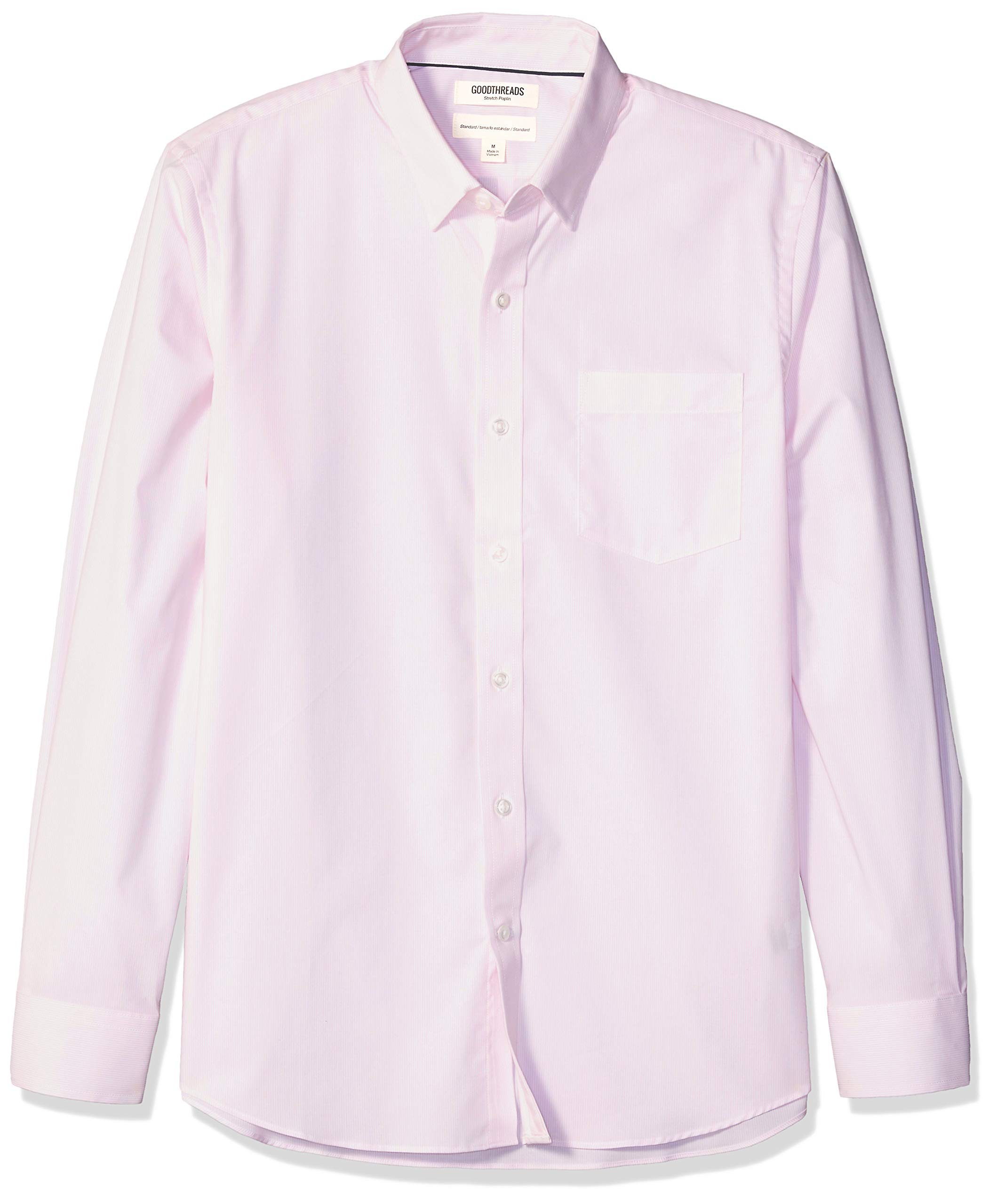 Amazon Brand - Goodthreads Men's Standard-Fit Long-Sleeve Wrinkle Resistant Comfort Stretch Poplin with Easy-Care