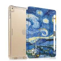 iPad 10.2 Case 2019 with Pencil Holder Folio Stand Case for iPad 7th Generation, Protective Shockproof Case with Auto Sleep/Wake for iPad 10.2 inch, Starry Night